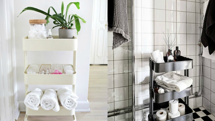 space in the bathroom