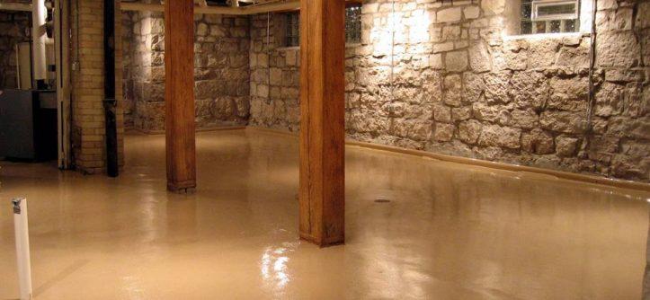 Concrete basement floor options