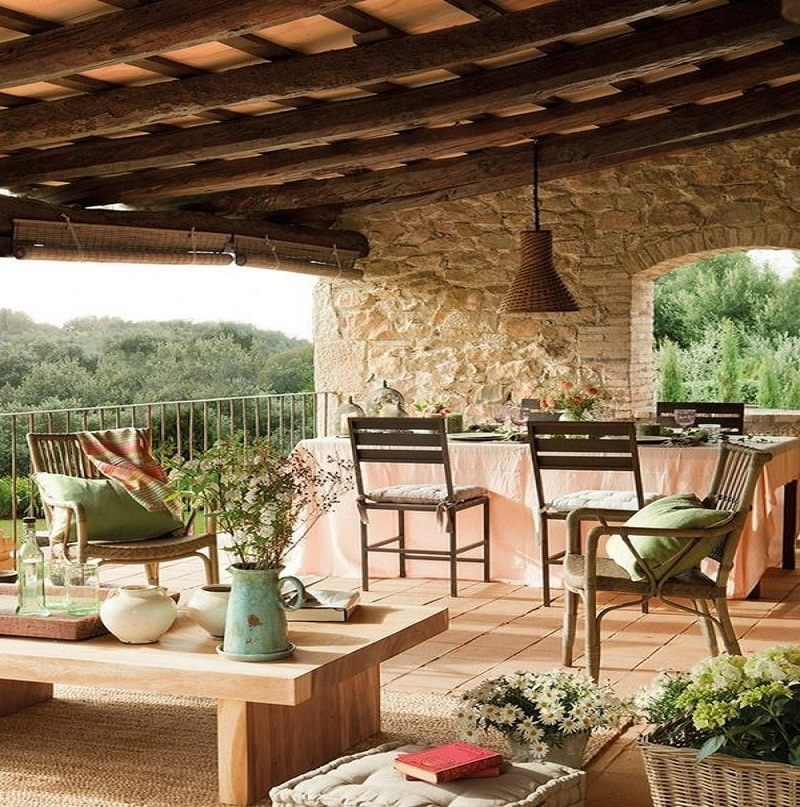 top rustic terraces