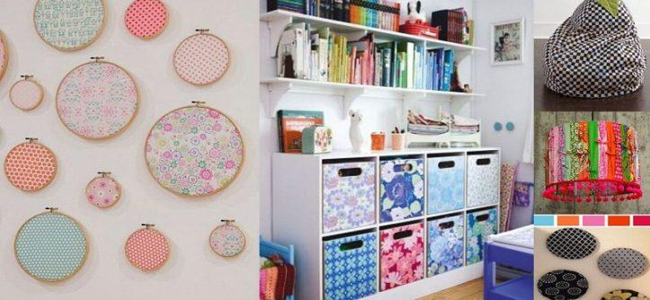 decoration with fabrics