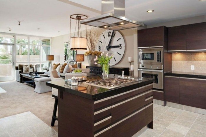 clock in the kitchen