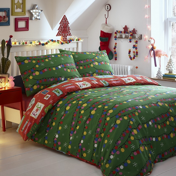 Bed cover for christmas