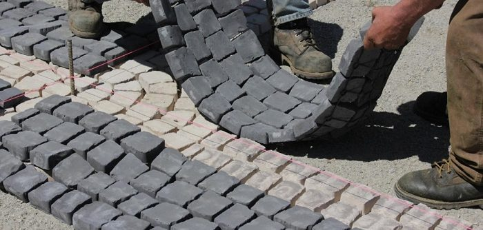 Place Cobblestone Pavers