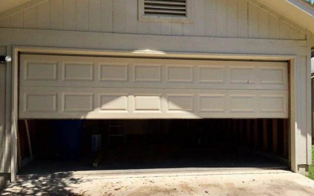 garage door won't open all the way