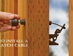 install gate latch cable